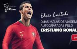 Fundação Gol de Letra leiloa duas malas autografadas por Cristiano Ronaldo