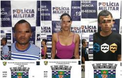 PM prende três por tráfico de drogas e porte ilegal de arma no Jardim Carolina