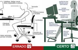 Dicas importantes para sentar corretamente em frente do Computador